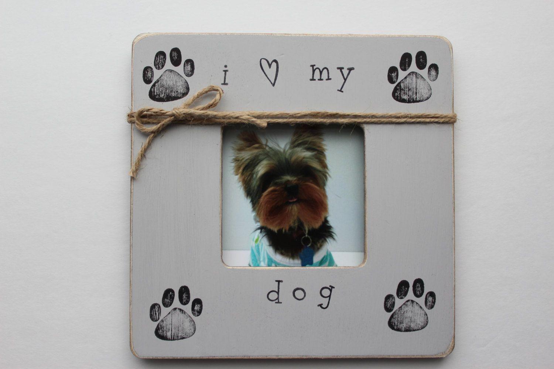 Dog frame i love my dog frame rustic picture frame paw print dog photo frame i love my dog frame rustic picture frame paw print jeuxipadfo Images