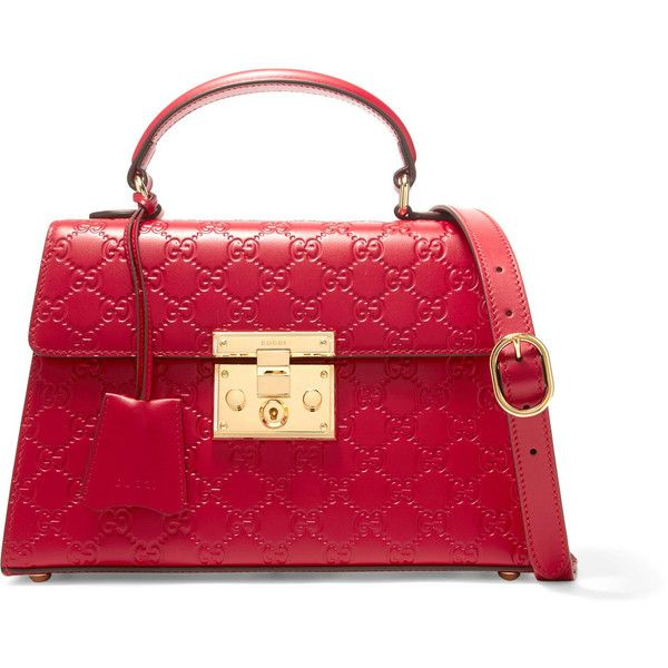 Gucci Padlock small embossed leather tote (7.135 BRL) ❤ liked on Polyvore featuring bags, handbags, tote bags, gucci tote bag, leather tote handbags, leather purses, red leather handbags and red leather purse