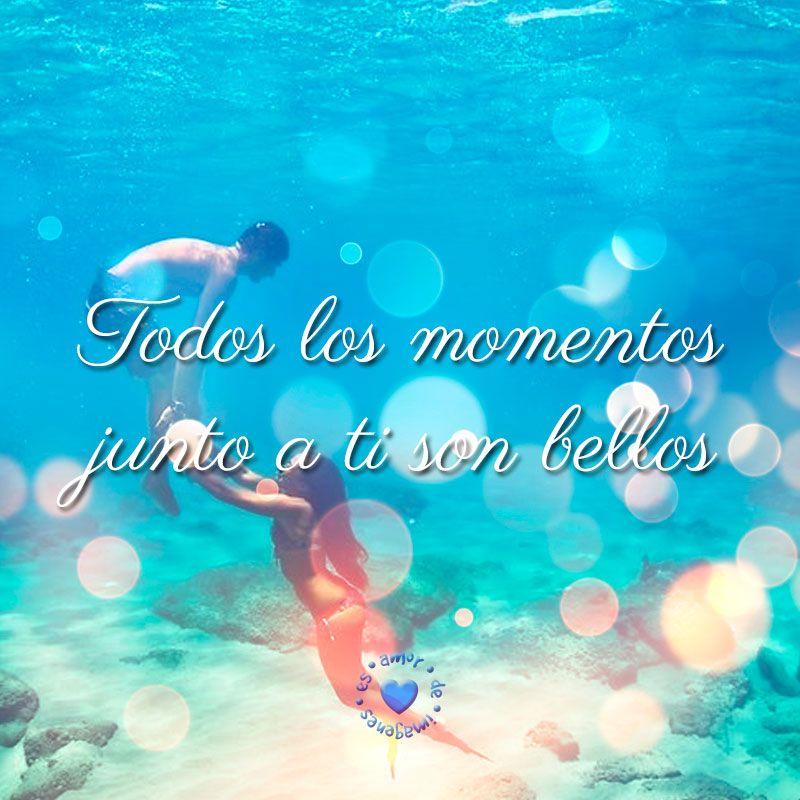 Bonita Imagen En El Agua Con Frase De Amor Imagenes De