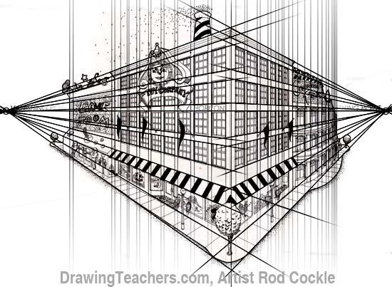 Perspective Drawings Of Buildings 2 point perspective drawing lessons | point perspective drawing