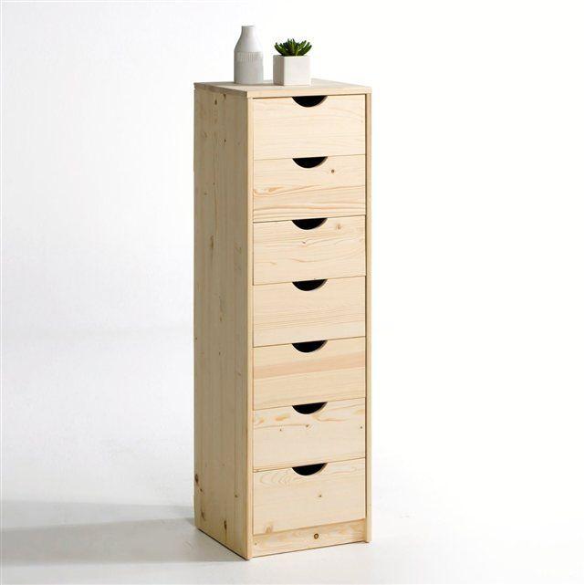 Chiffonnier, ou semainier 7 tiroirs, pin massif, Crawley La Redoute Interieurs