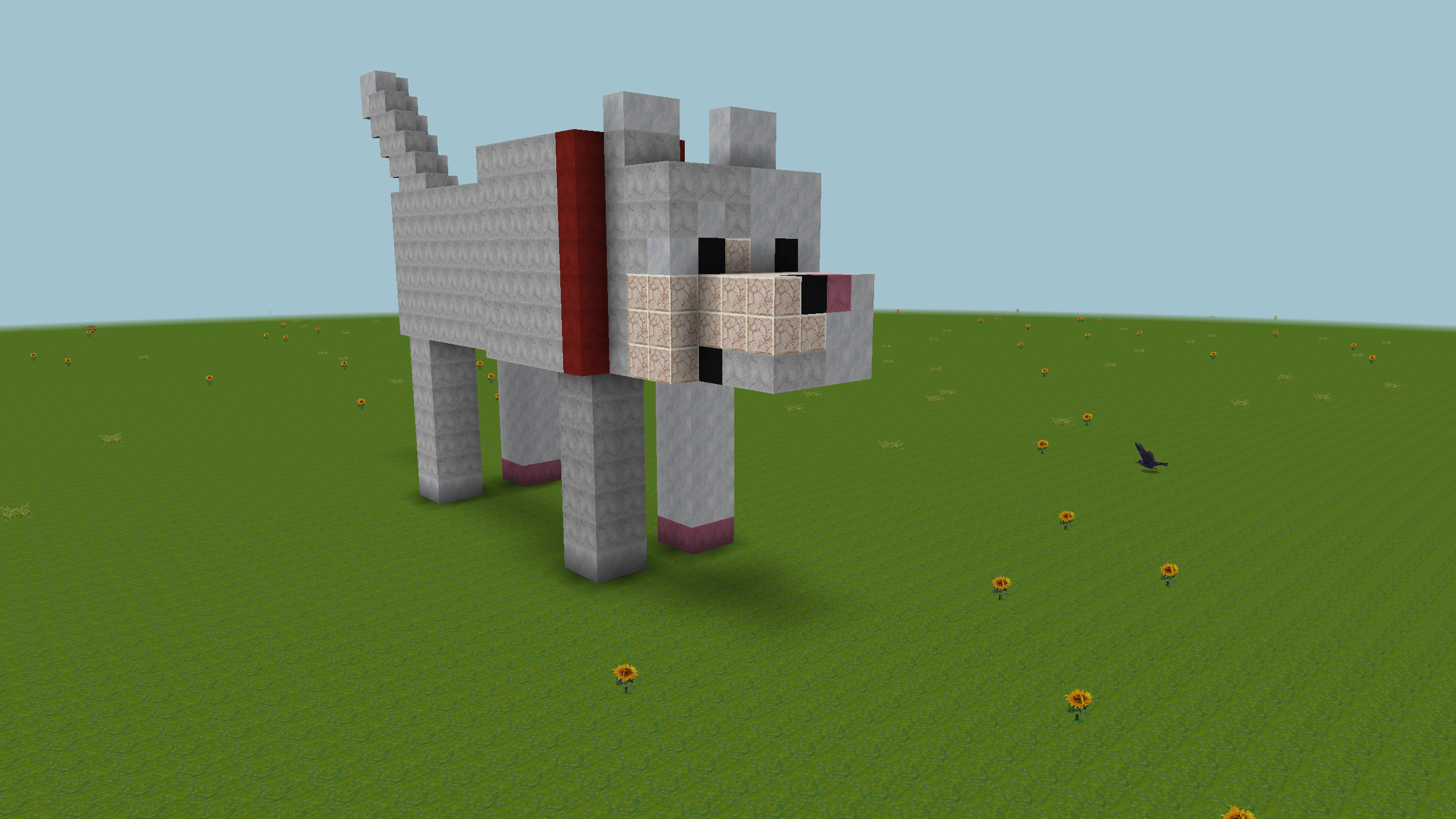 Grey Square Doggo In Realmcraft With Skins Exported To Minecraft Minecraft Dog House Minecraft Dogs Minecraft Houses