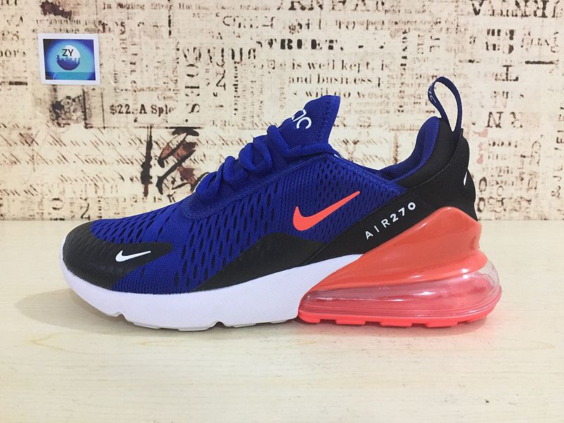 big sale 64917 c44d9 2018 Authentic Nike Air Max 270 Running Shoes Flyknit Royal Blue 2018  Latest Styles AH8050-