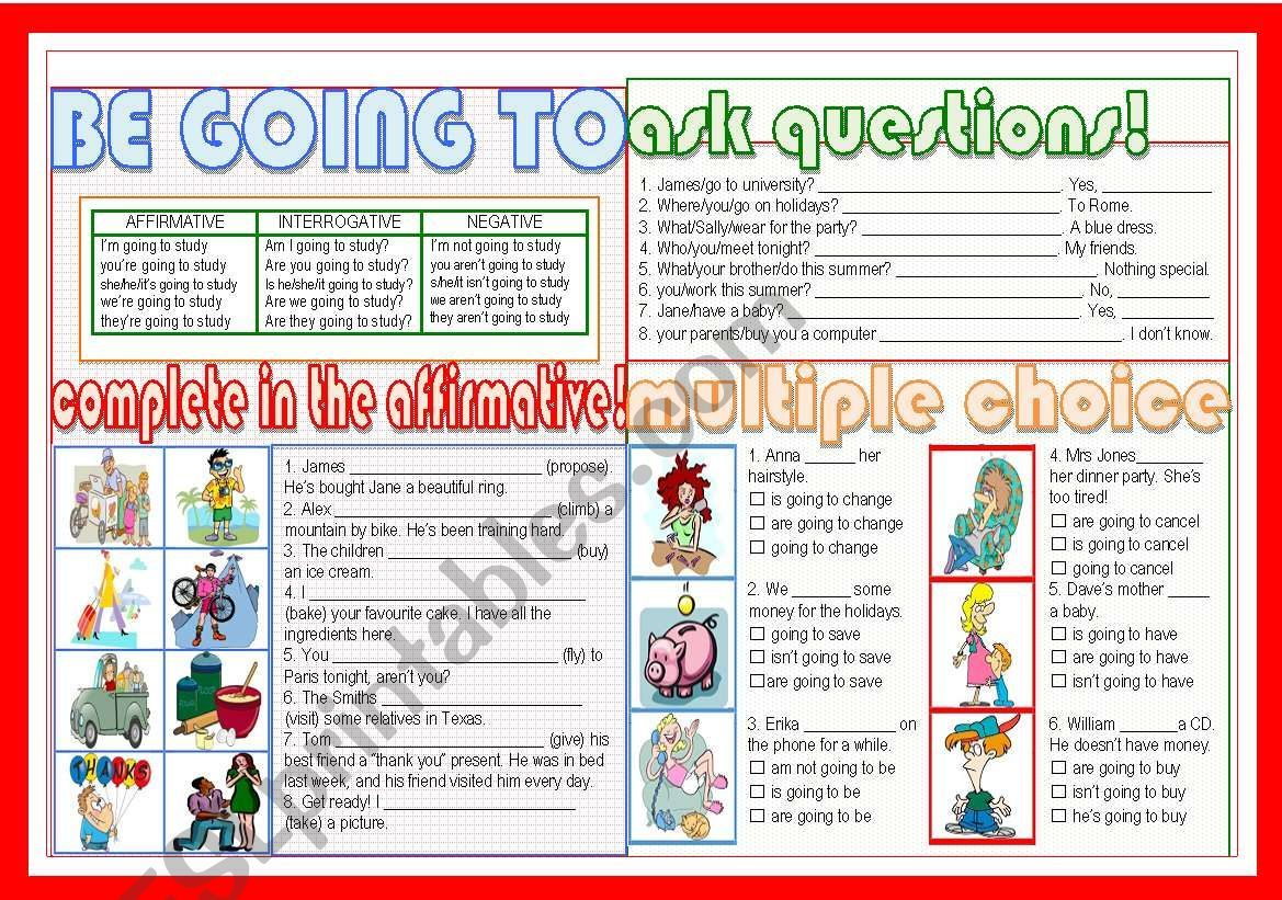It S A Simple Worksheet To Practise Going To In The