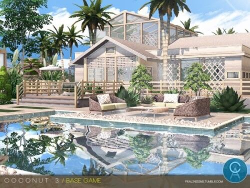 Coconut 3 House By Cross Architecture For The Sims 4 | The Sims 4