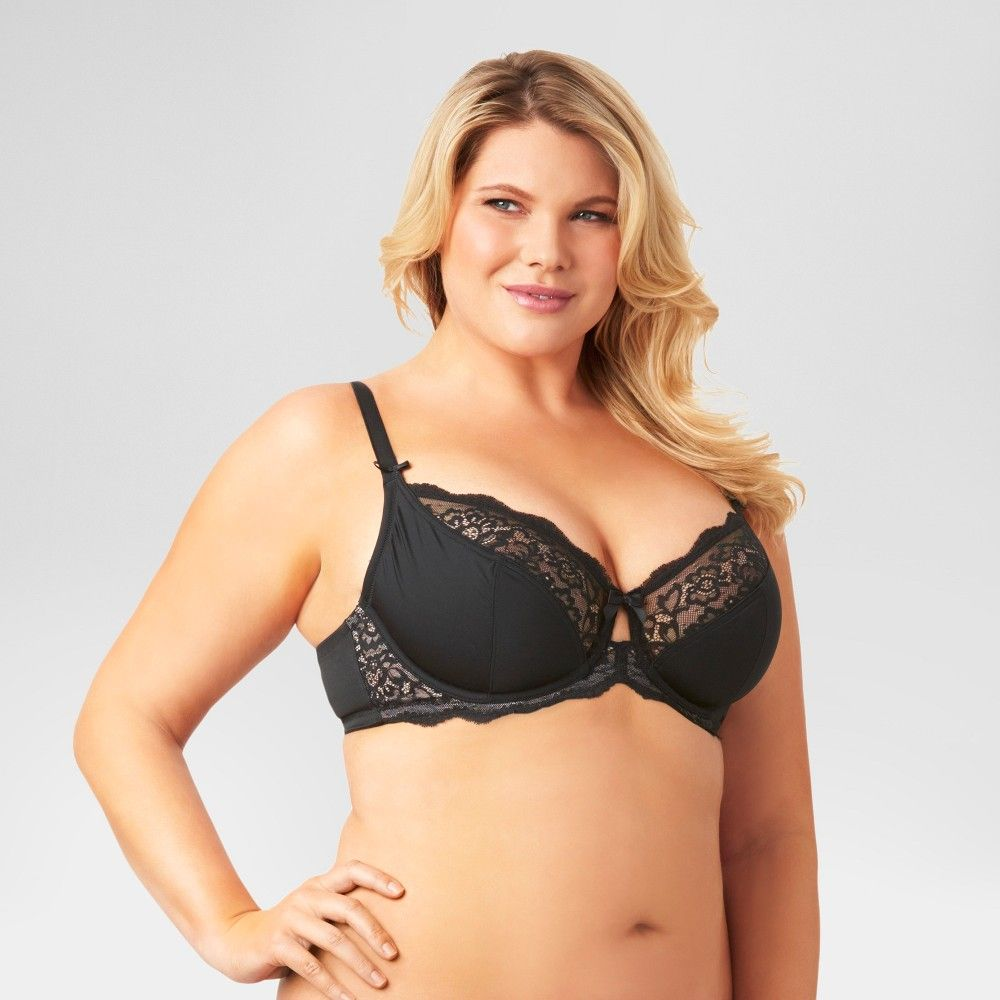 f463fb18e0 Kissed by Olga Women s Unlined Underwire Bra Black 40D