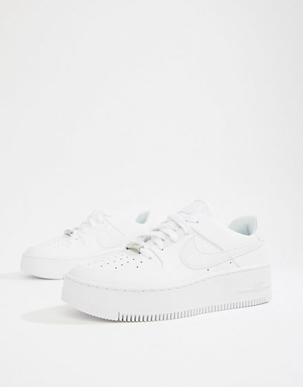 ca49219475f Nike White Air Force 1 Sage Trainers