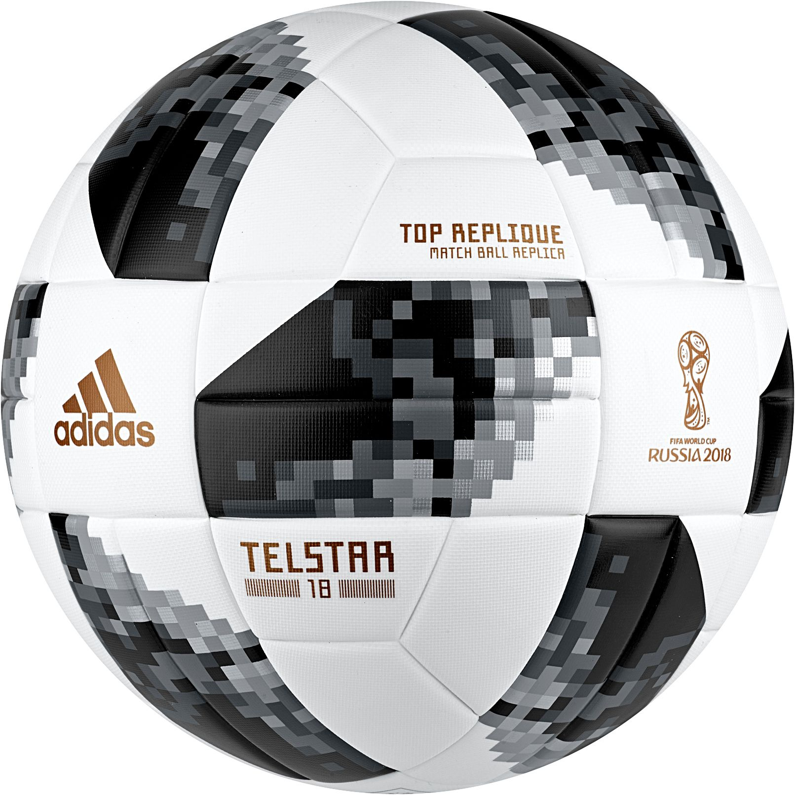 detailed look ee908 d2e01 adidas 2018 Fifa World Cup Russia Telstar Top Replique Soccer Ball, White