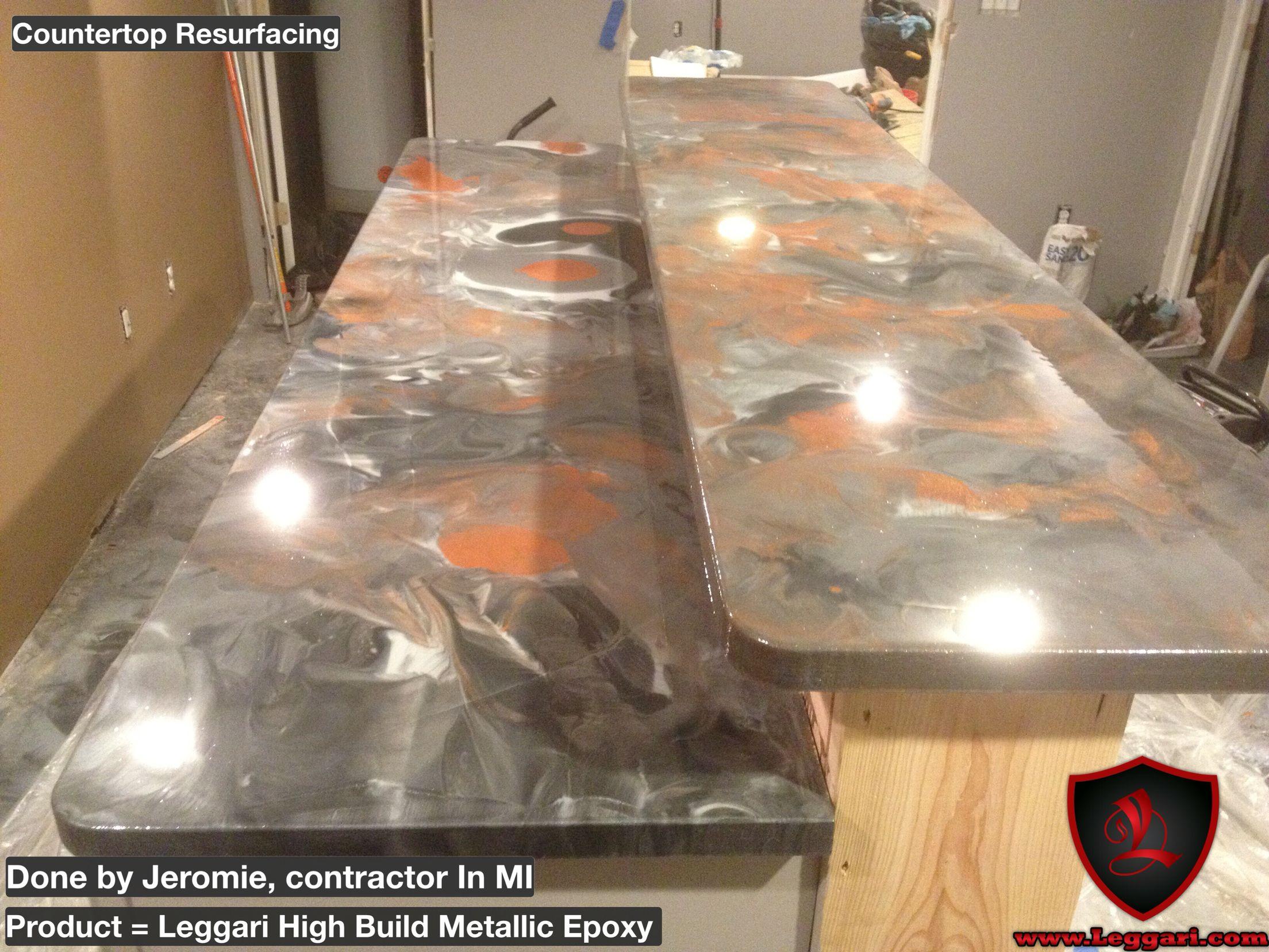 Leggari DIY Metallic Epoxy Countertop Resurfacing Kits Another Project  Completed With Leggari Products. Metallic Epoxy