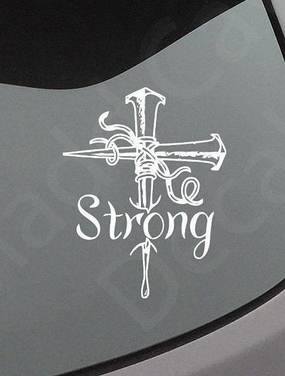 Strong Cross Vinyl Decal Cross Car Decal Cross Sticker