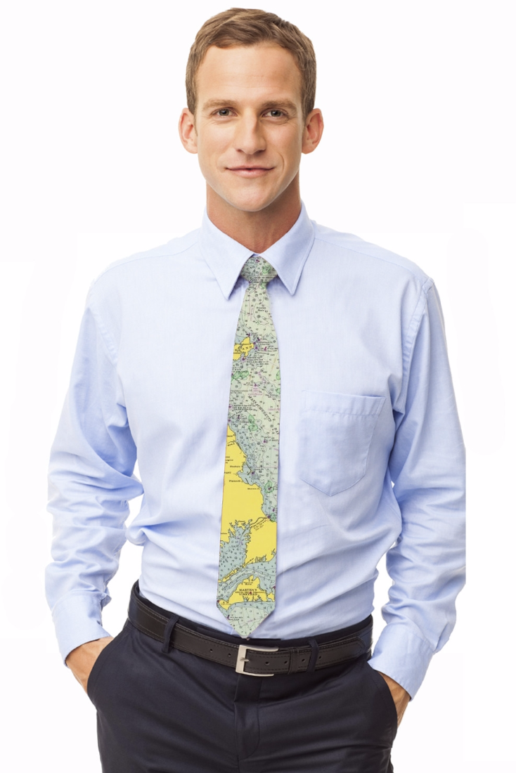 Love this Cape Cod Chart Tie, the perfect nautical accouterment.