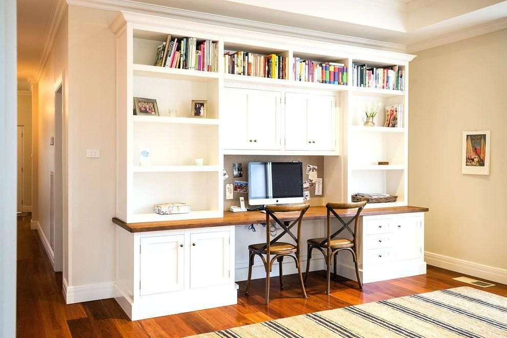 Built In Home Office Wall Units Built In Desks And Bookshelves