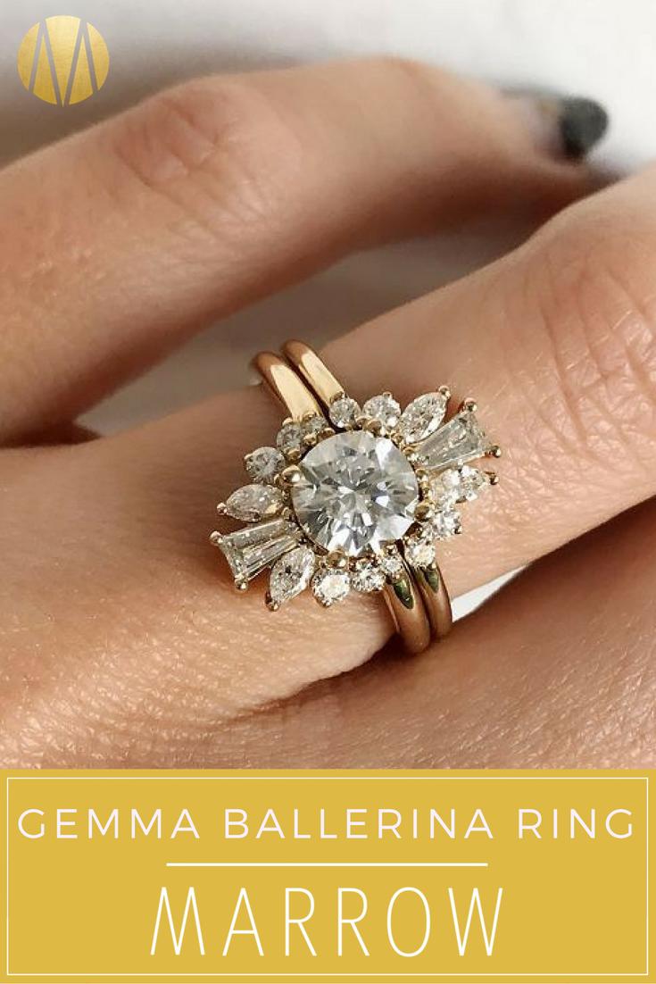Gemma Ballerina Ring Unusual Wedding Rings Wedding Rings For