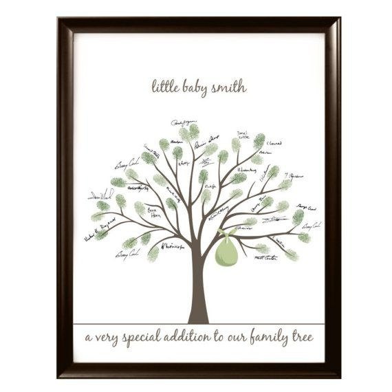 fingerprint tree guestbook idea