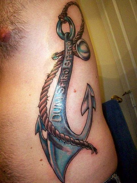 "This anchor is engraved with the state motto, Dum Spiro Spero, which translates to ""While I breathe, I hope."""