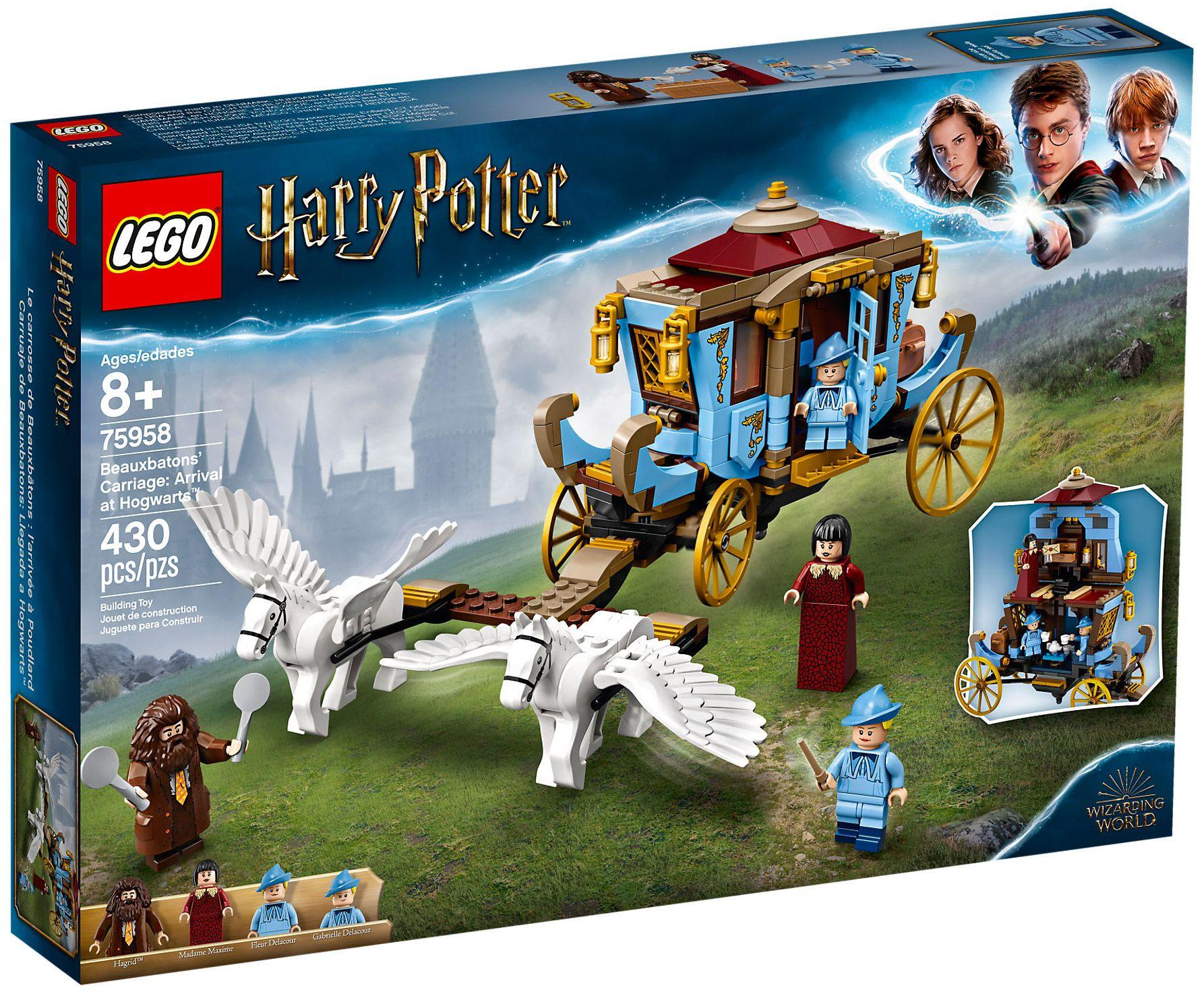 Lego Harry Potter 75958 Pas Cher Le Carrosse De Beauxbatons L Arrivee A Poudlard Harry Potter Lego Sets Lego Harry Potter Harry Potter Set