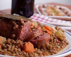 Photo of Auvergne salted with lentils # Auvergné #with # lentils #Pet …
