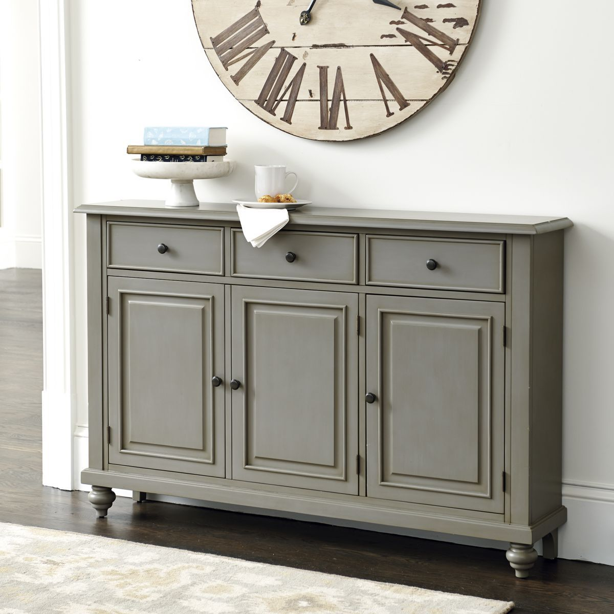 Martin 3Door Console Table in 2019  Family room wall  Entryway cabinet Hallway console