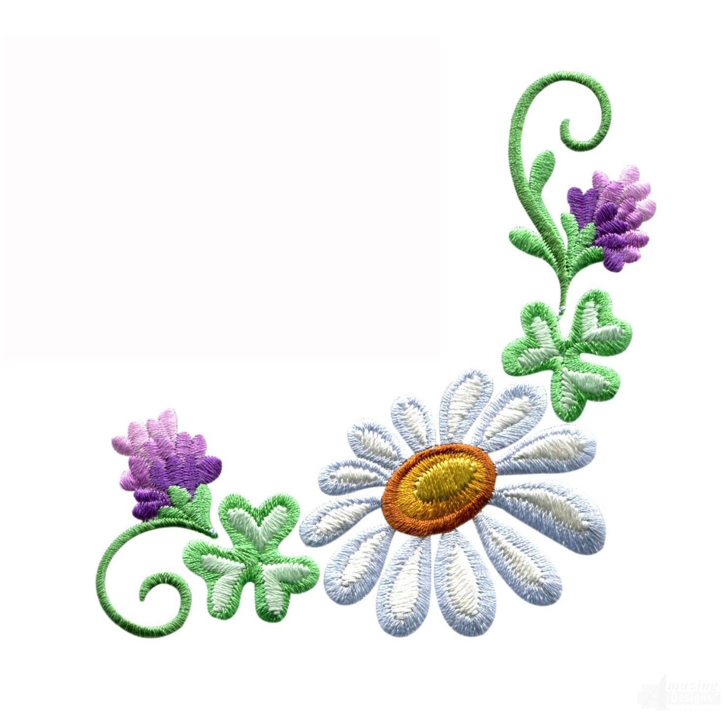 Daisy floral border 3 embroidery design haft maszynowy embroidery daisy floral border 3 embroidery design izmirmasajfo