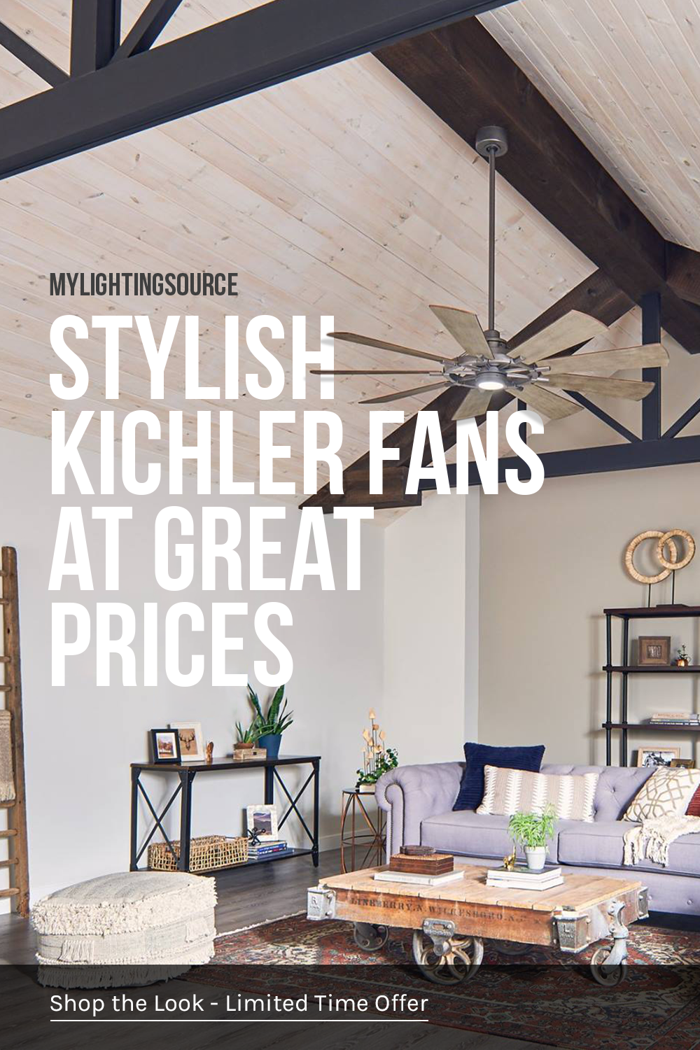 Summer Is Almost Upon Us And There S No Better Way To Cool Down Than With A New Ceiling Fa With Images Living Room Ceiling Fan Vaulted Ceiling Living Room Living Room