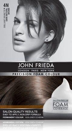 4N Brilliant Brunette® Dark Natural Brown - Precision foam permanent colour shades | John Frieda®