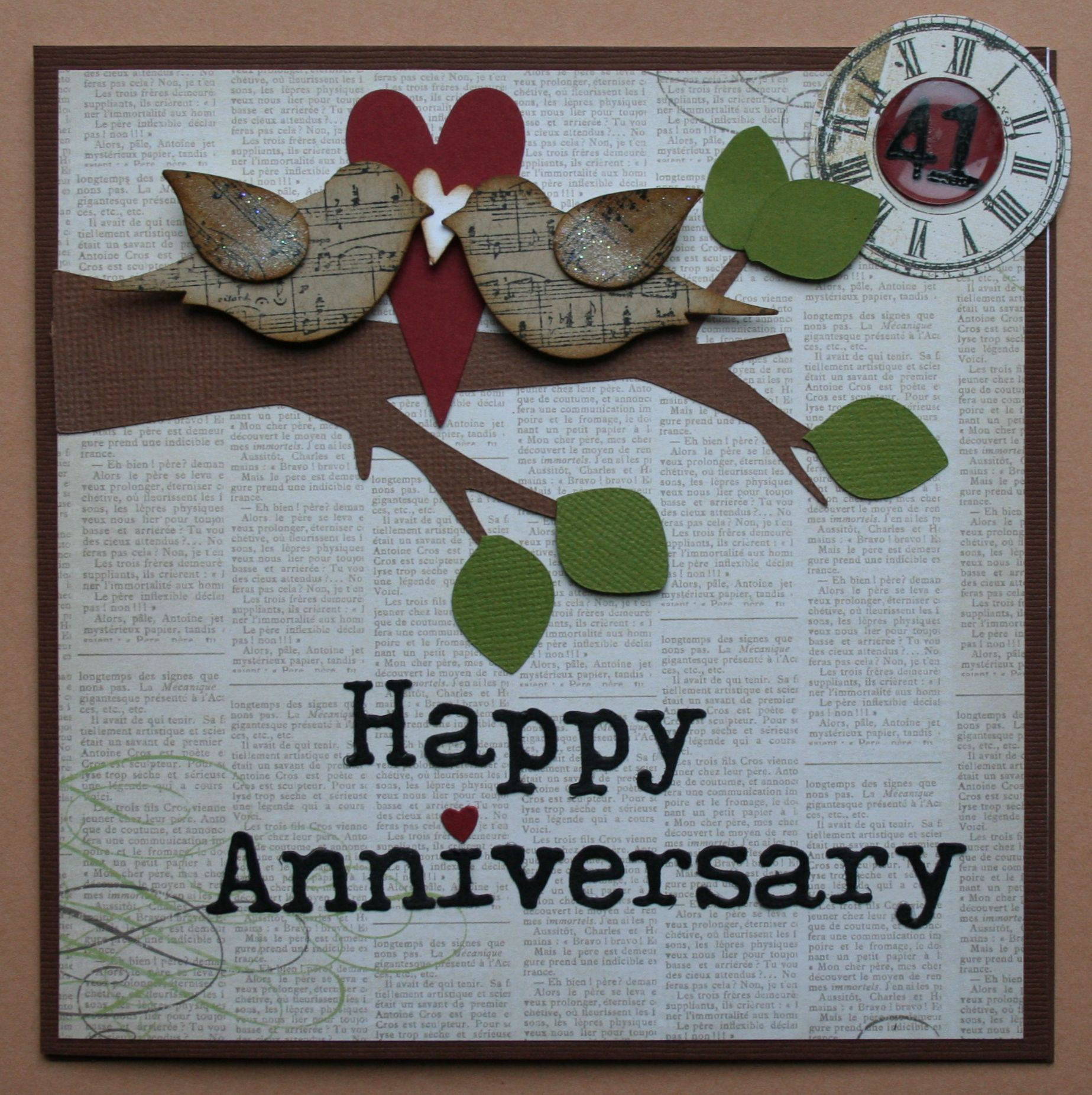 Happy Anniversary Anniversary scrapbook