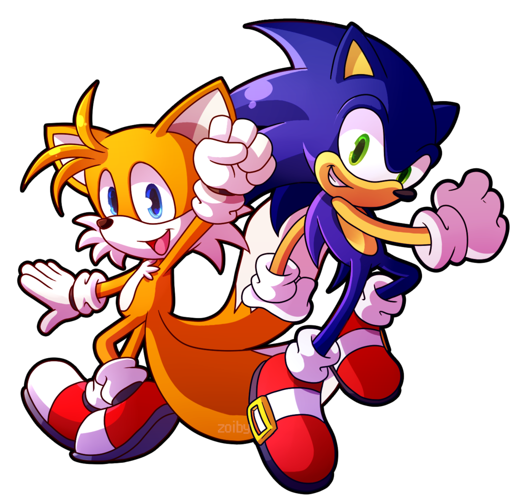Sprite Redraw: Tails and Sonic by Zoiby on DeviantArt