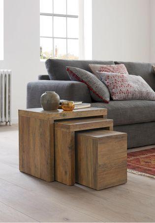 Set Of 3 Chiltern Nest Tables Nestingsidetables Side Moderndesign Living Room Design