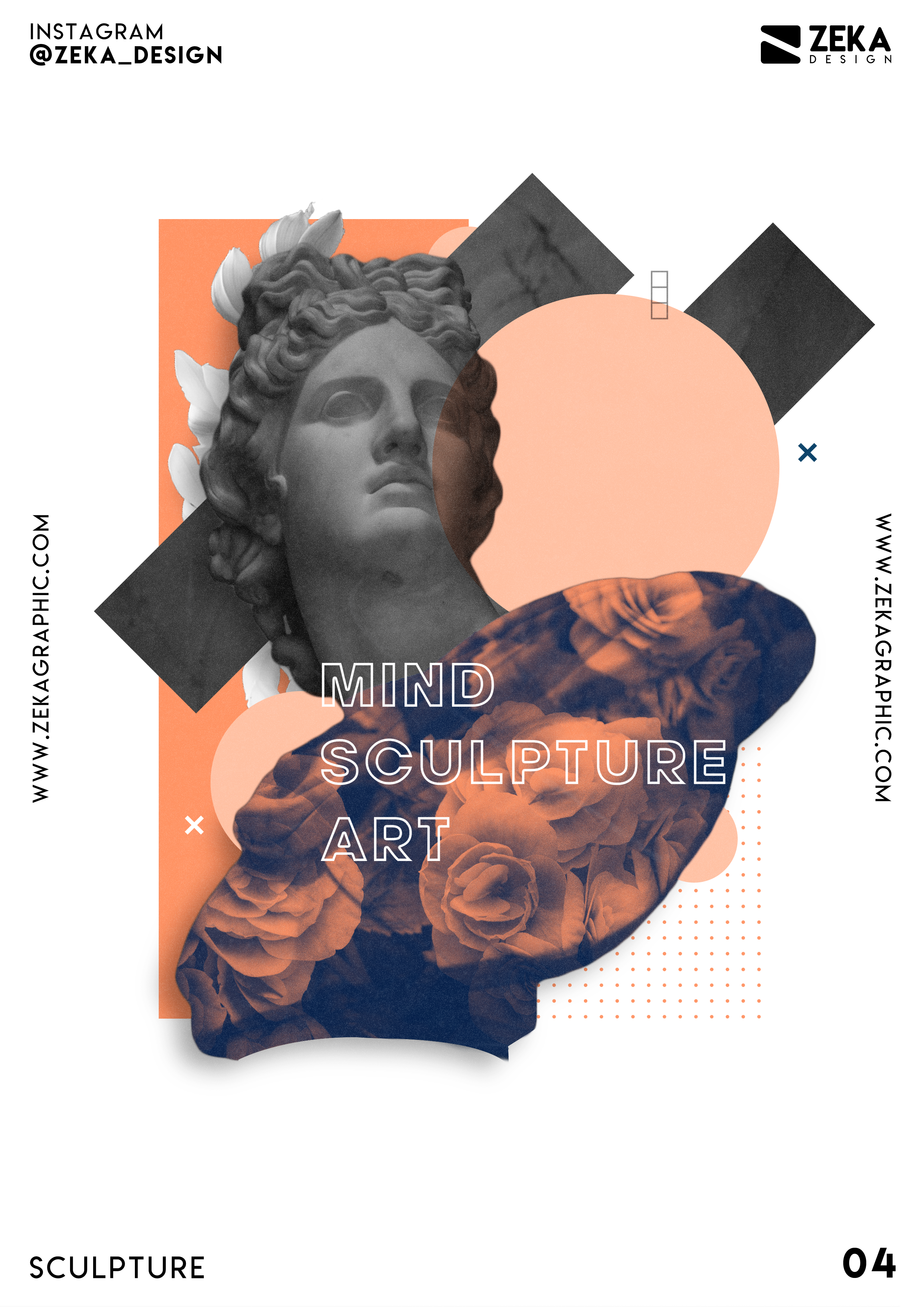 Sculpture Poster Design Series Poster Art And Graphic Design Project By Zeka Design In 2020 Retro Graphic Design Creative Graphic Design Minimalist Graphic Design
