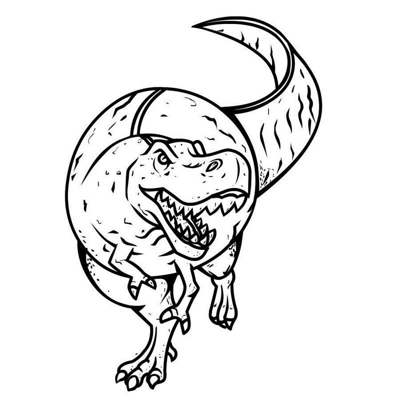 18+ Free cute dinosaur coloring pages ideas
