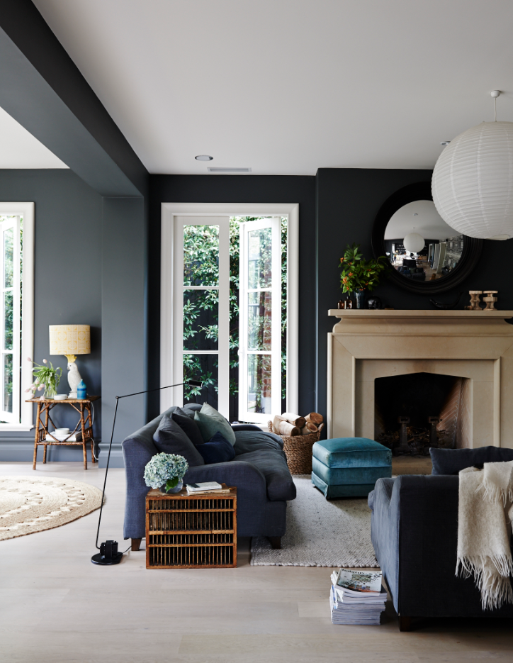 Here 39 S A Colour Scheme That We Can Really Get On Board With The Black Walls Instantly Make The