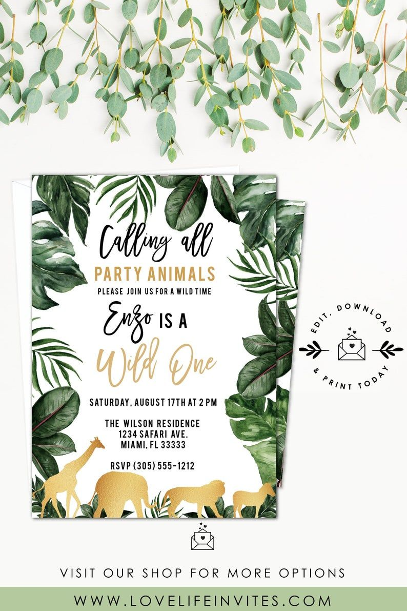 wild one birthday invite template