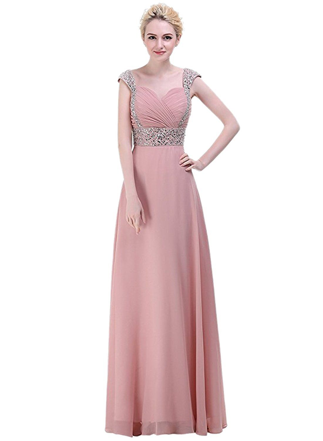 Azbro Women\'s Chiffon A-line Beading Prom Dress -- You can get more ...