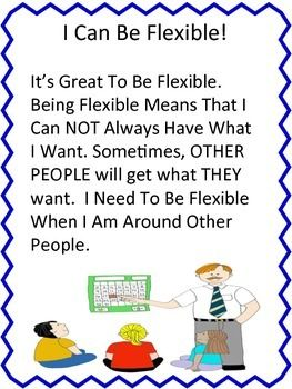 Social Creativity And Asd Challenging >> I Can Be Flexible Social Story Skill Builder For 3rd 5th