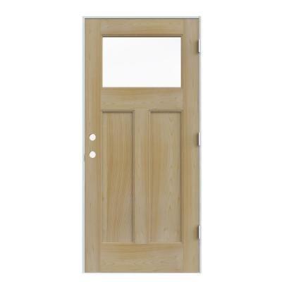 Jeld Wen 1 Lite Craftsman Unfinished Auralast Pine Solid Wood Entry