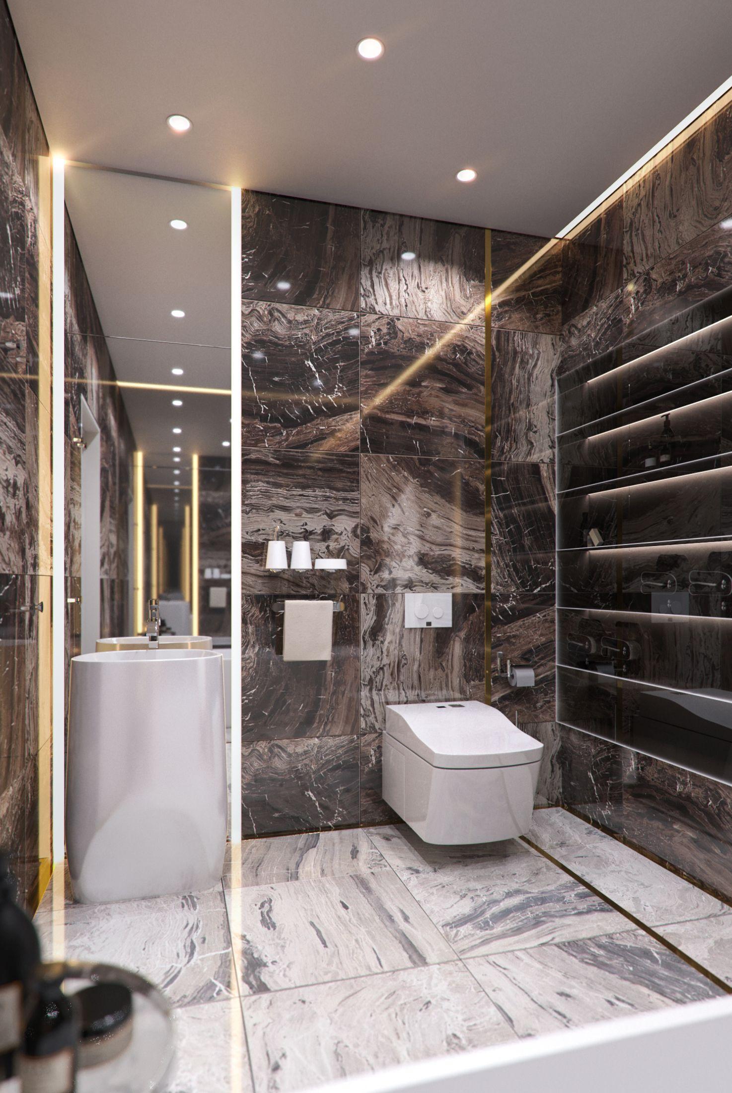 Calm Eclectic Interior Contemporary Bathroom Designs