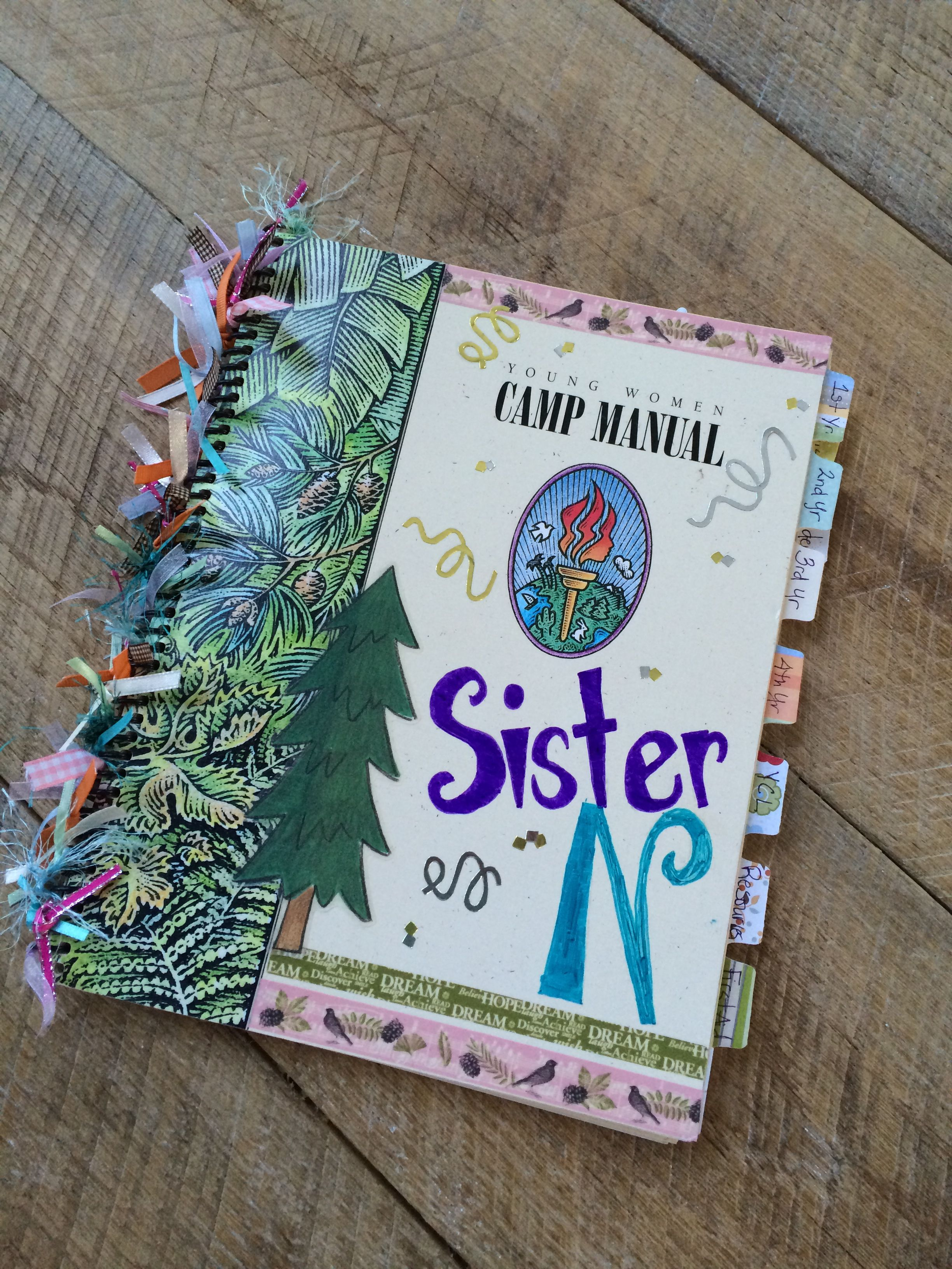 Crafts for young girls - Lds Yw Camp Girls Camp Decorate Camp Manuals And Turn Them Into Camp Scrapbooks