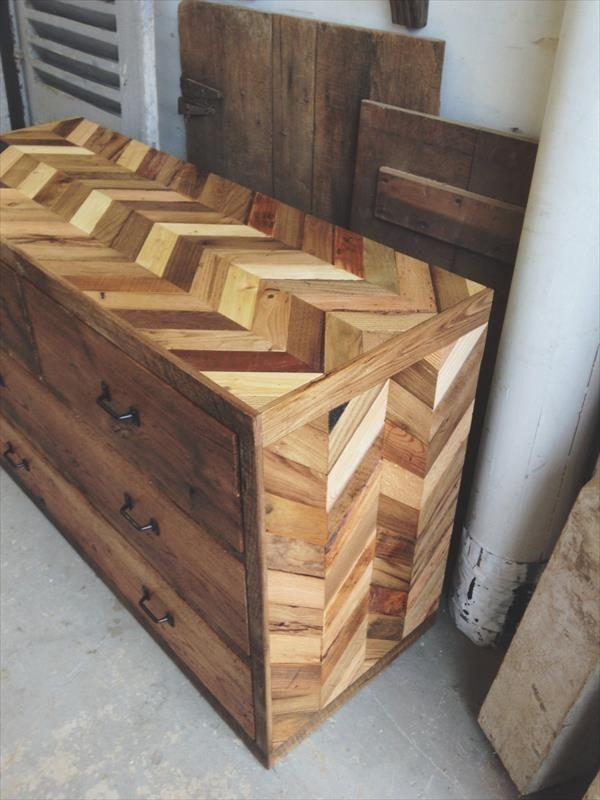 rustic pallet furniture. rustic dresser made from pallets | pallet furniture diy t