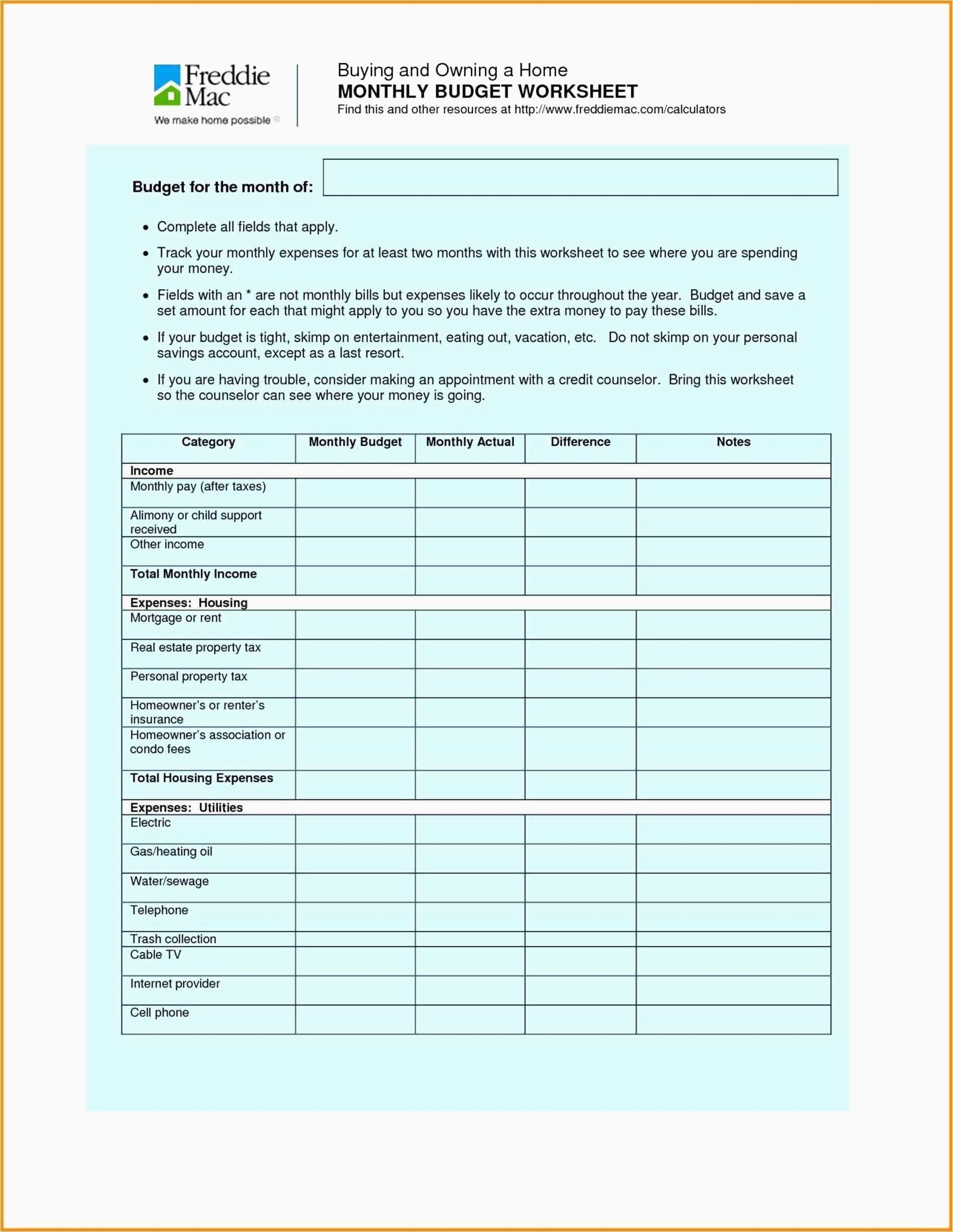 New Investment Excel Template Budgeting Worksheets