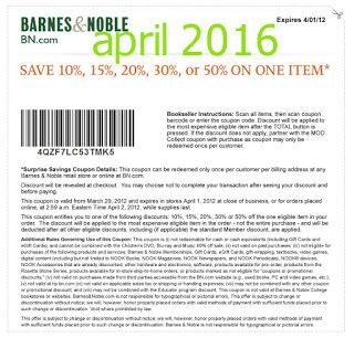 printable coupons barnes and noble coupons