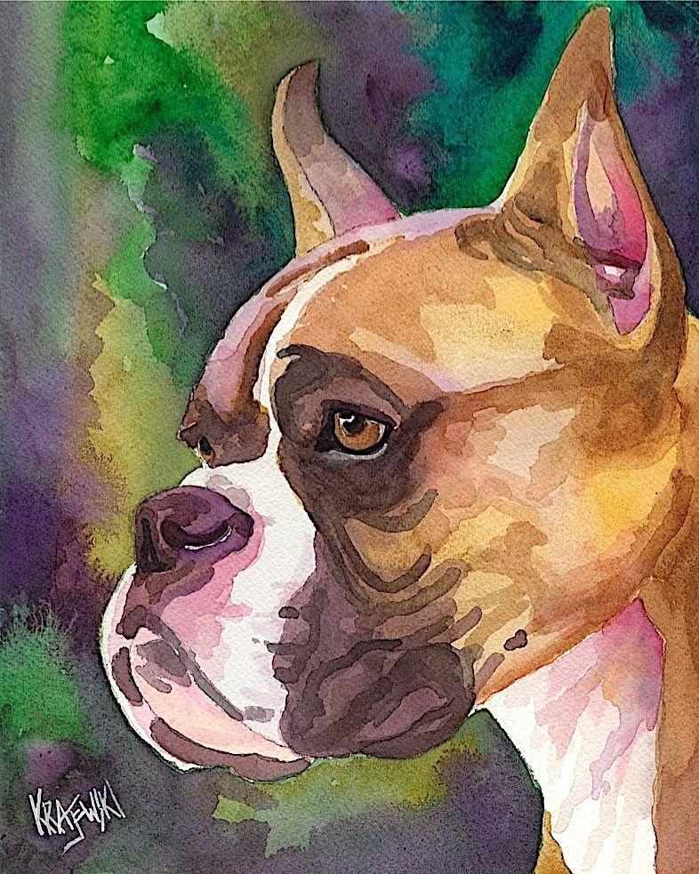 Rottweiler Dog 8x10 signed art PRINT RJK painting