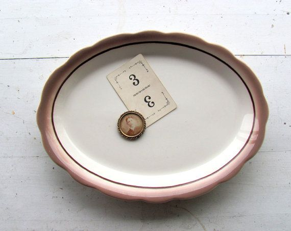Vintage Buffalo China Serving Platter Ironstone by NifticVintage, $22.00