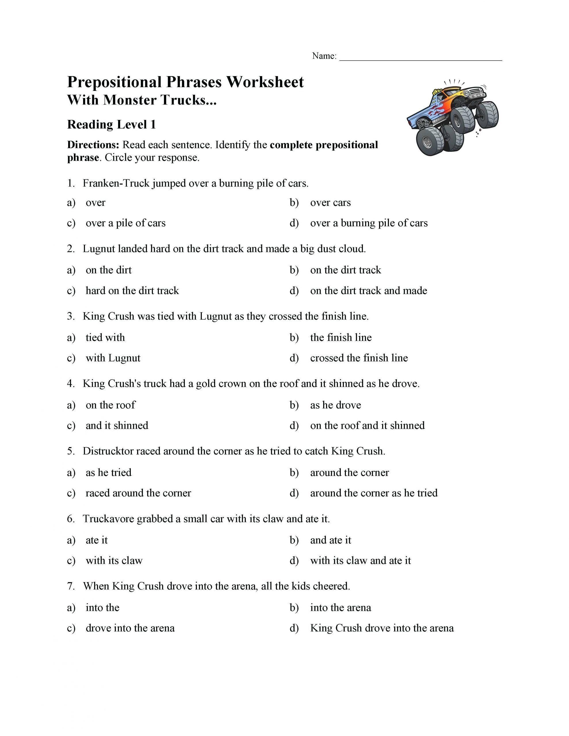 Preschool Worksheet Packet Fifth Grade Reading