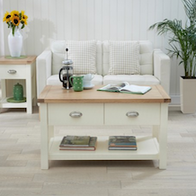 Somerset Oak And Cream Coffee Table Home Garden More