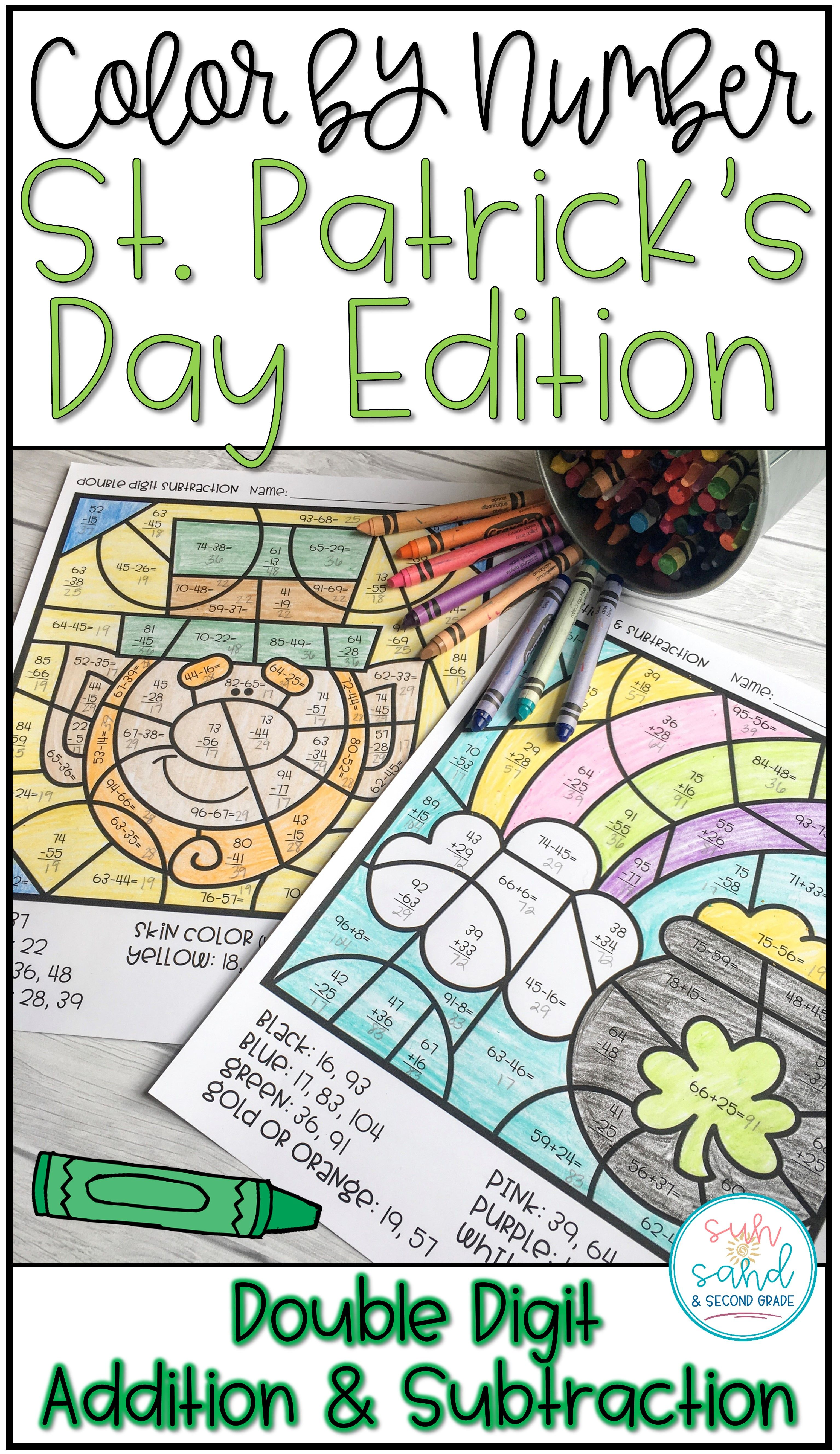 Color By Number St Patrick S Day Math