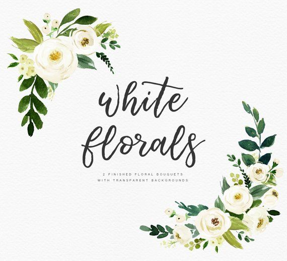 Transparent Png Jpg White Watercolor Flowers Png