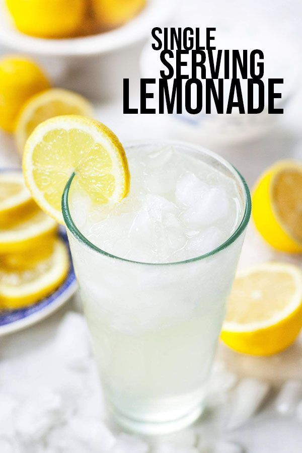 Single Serving Lemonade – A quick and easy recipe for one! Make a glass of sweet…