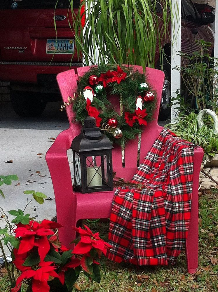 I Have A Red Adirondack Chair Outside I D Like To Use For