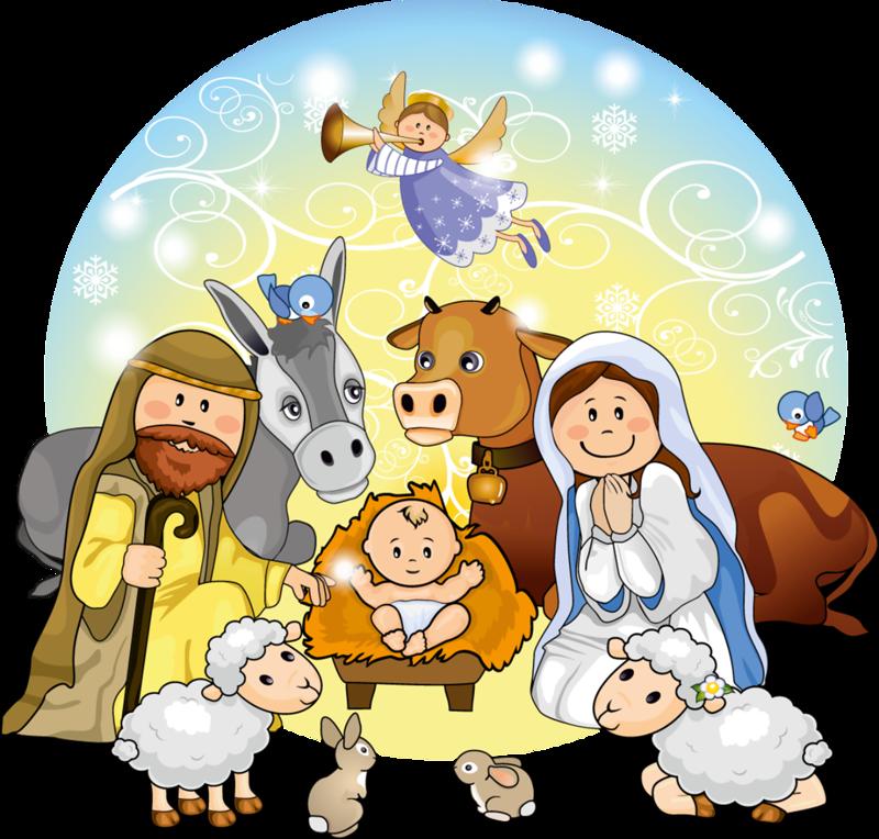 cute christmas nativity scene clip