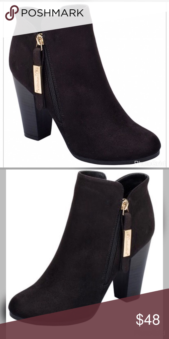 🔥🔥🔥BLACK BOOTIES!!🔥🔥🔥 Super cute black faux suede booties ... 583d3c8d844a